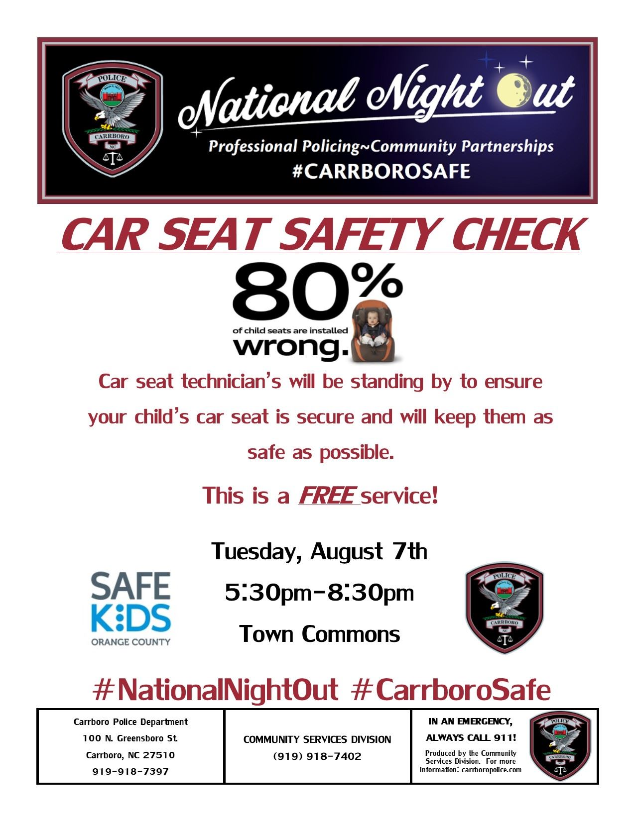 car seat safety check